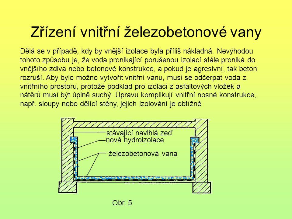Zřízení vnitřní železobetonové vany