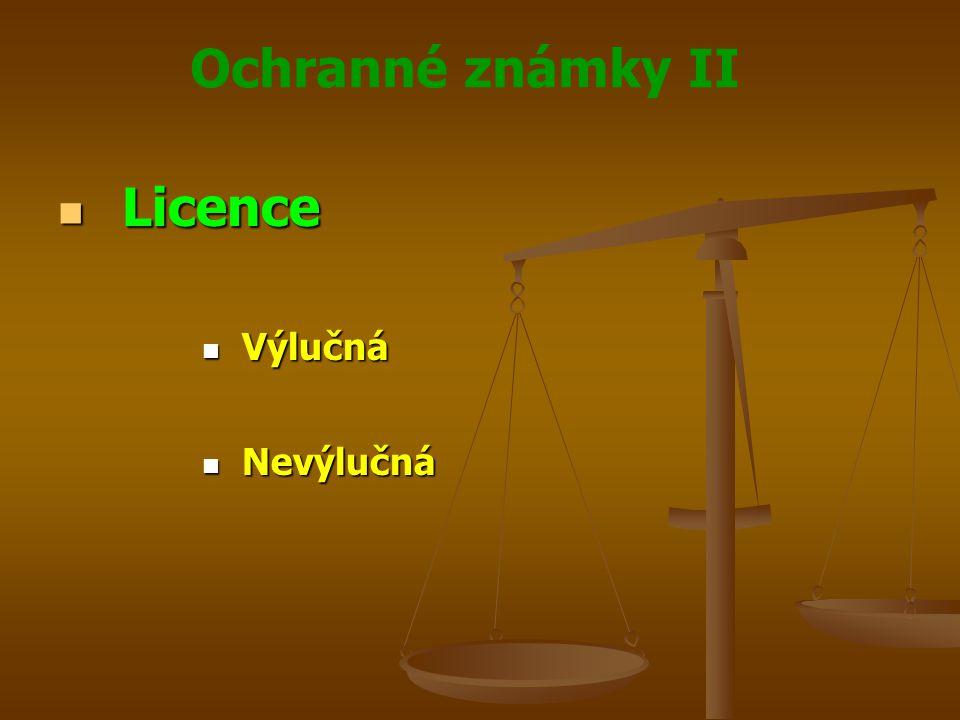 Licence Výlučná Nevýlučná