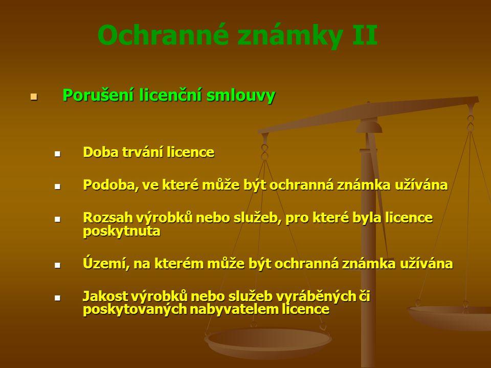 Porušení licenční smlouvy