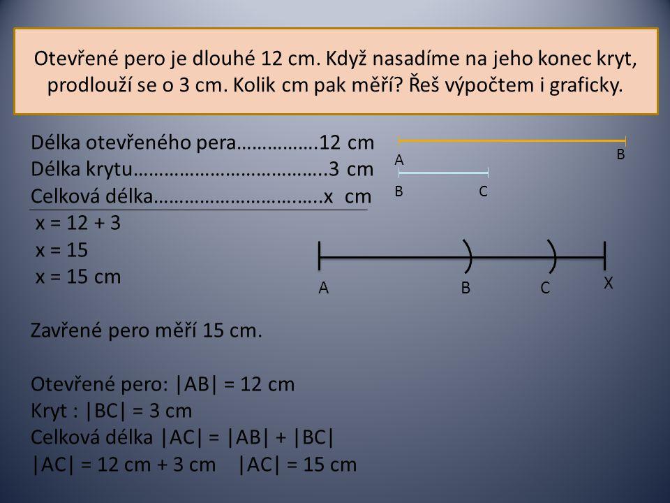 Délka otevřeného pera…………….12 cm Délka krytu………………………………..3 cm