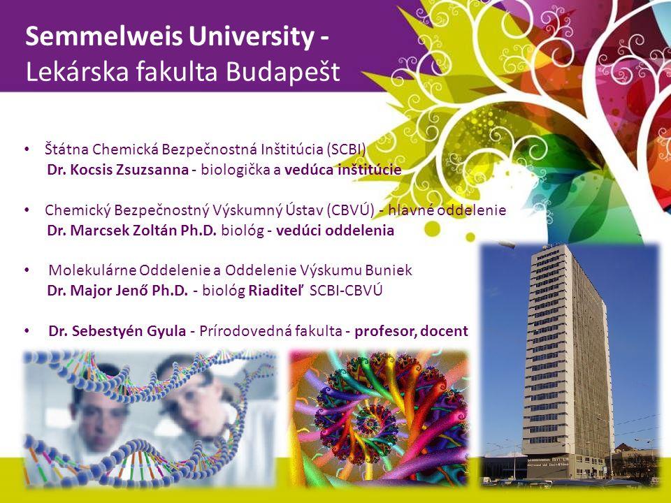 Semmelweis University - Lekárska fakulta Budapešt