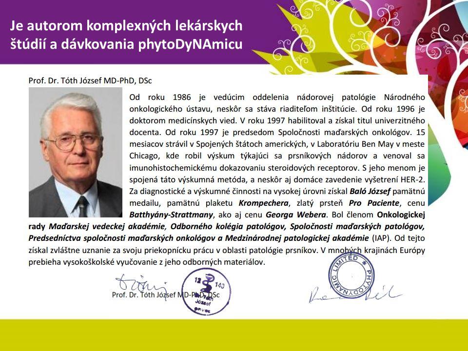 Je autorom komplexných lekárskych