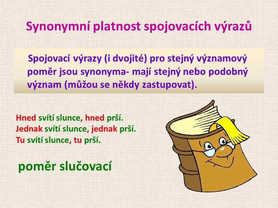 Synonymní platnost spojovacích výrazů