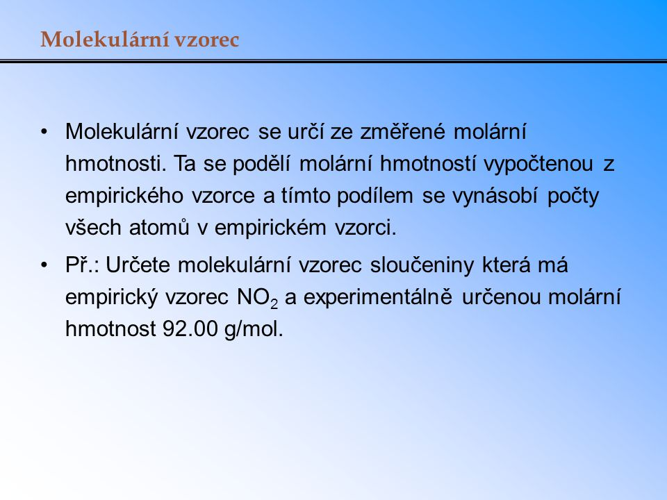 Molekulární vzorec