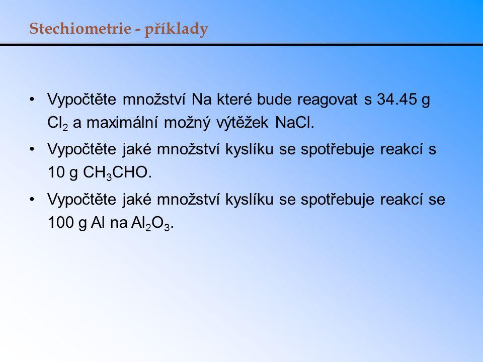 Stechiometrie - příklady