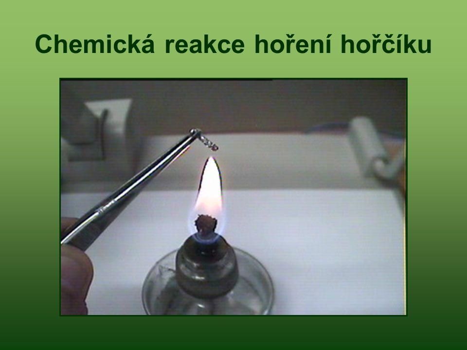 Chemická reakce hoření hořčíku