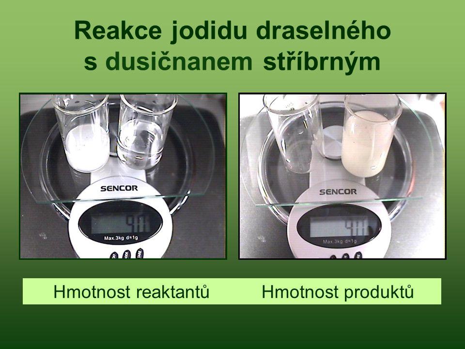 Reakce jodidu draselného s dusičnanem stříbrným