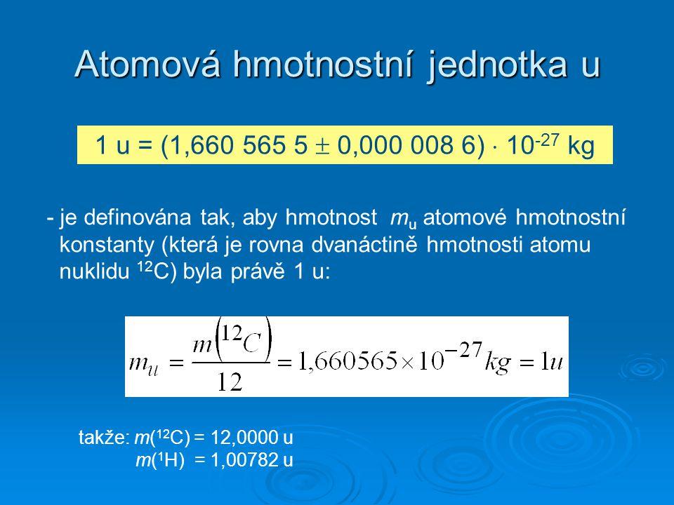Atomová hmotnostní jednotka u