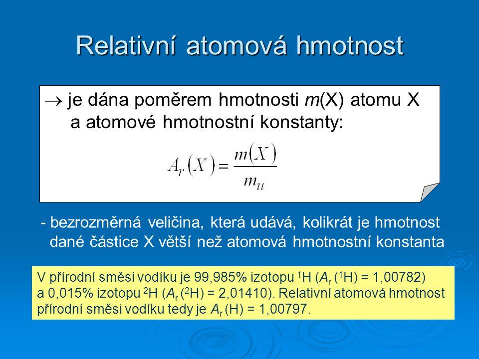 Relativní atomová hmotnost