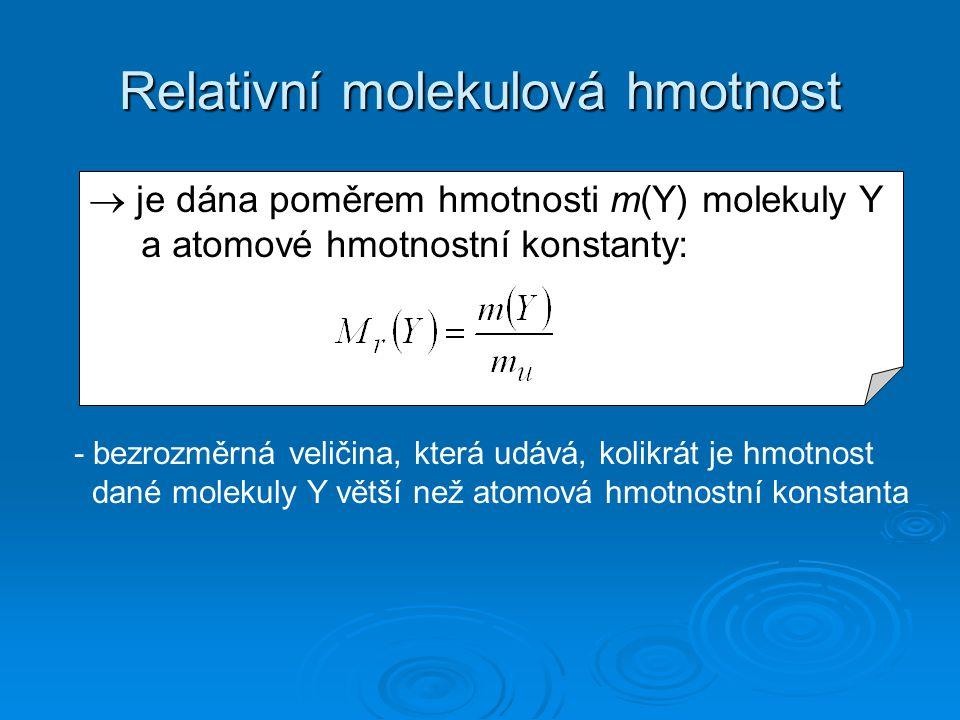 Relativní molekulová hmotnost