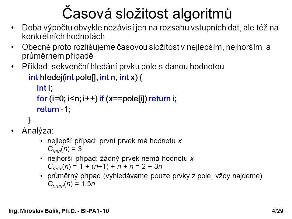 Časová složitost algoritmů