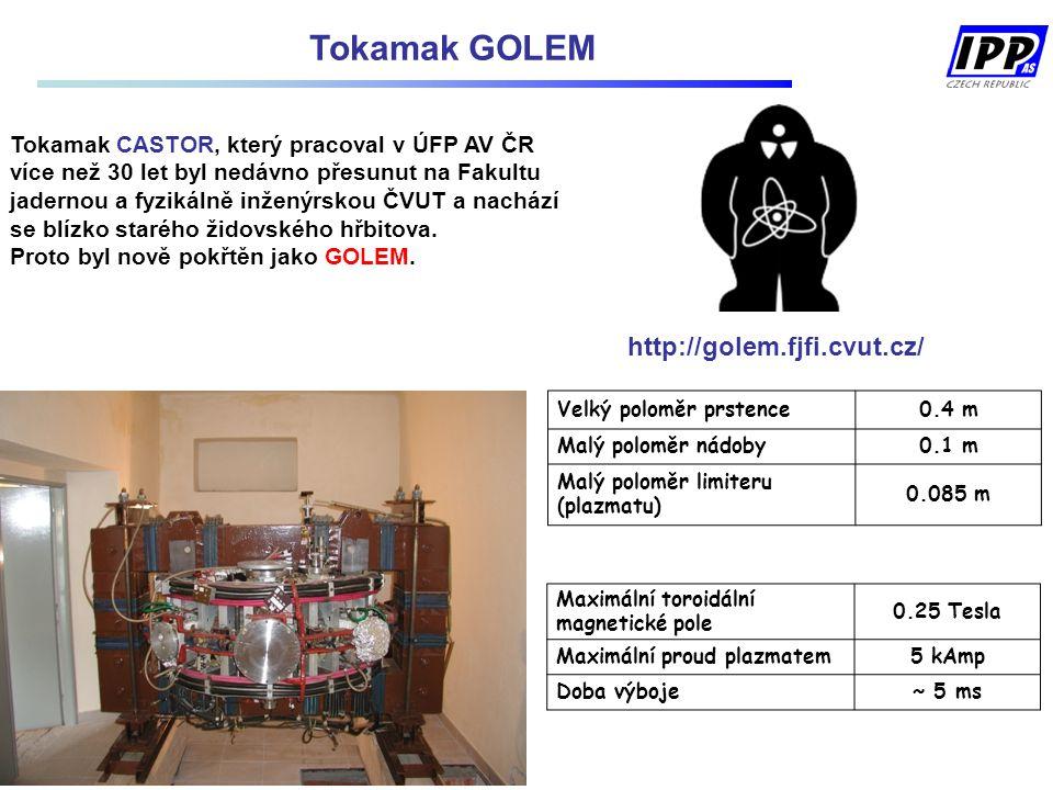 Tokamak GOLEM http://golem.fjfi.cvut.cz/