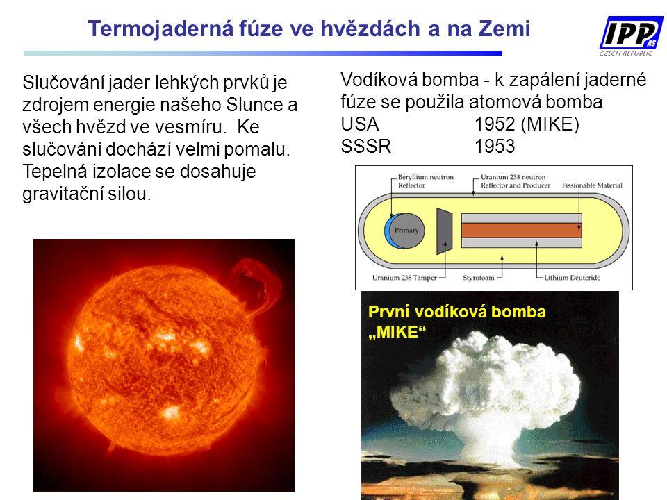 Termojaderná fúze ve hvězdách a na Zemi