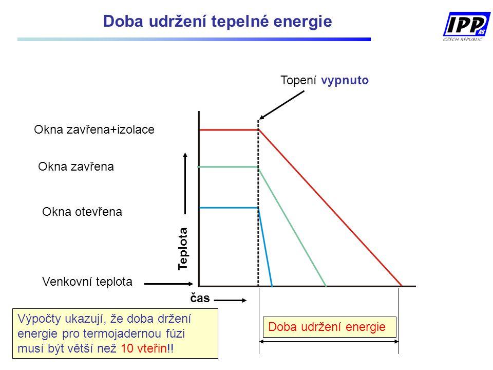 Doba udržení tepelné energie