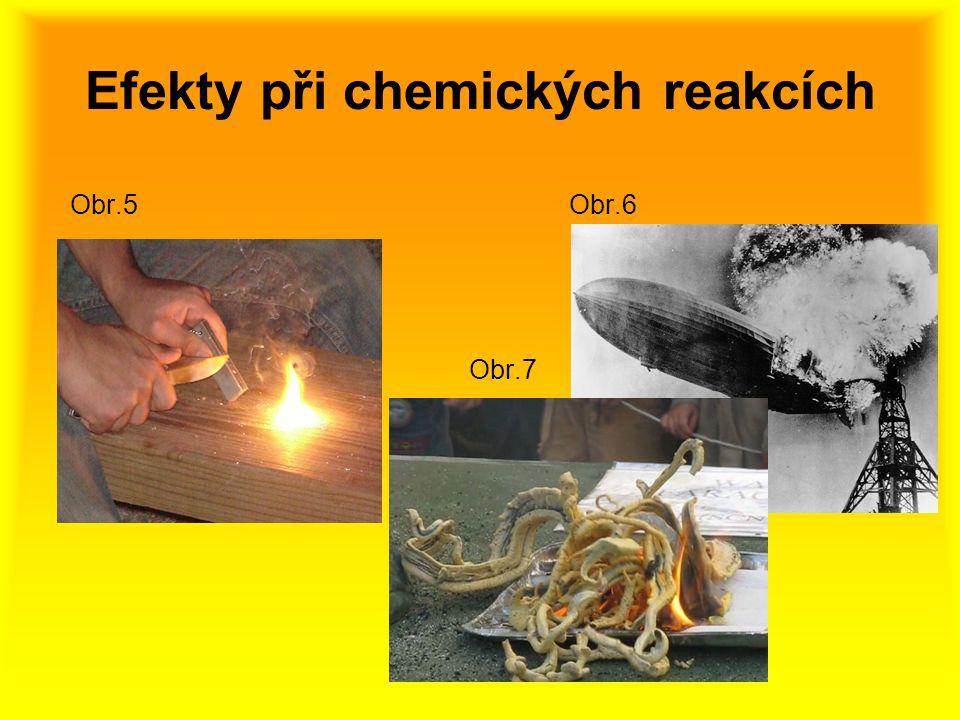 Efekty při chemických reakcích