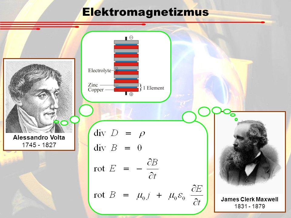 Elektromagnetizmus Alessandro Volta 1745 - 1827 James Clerk Maxwell
