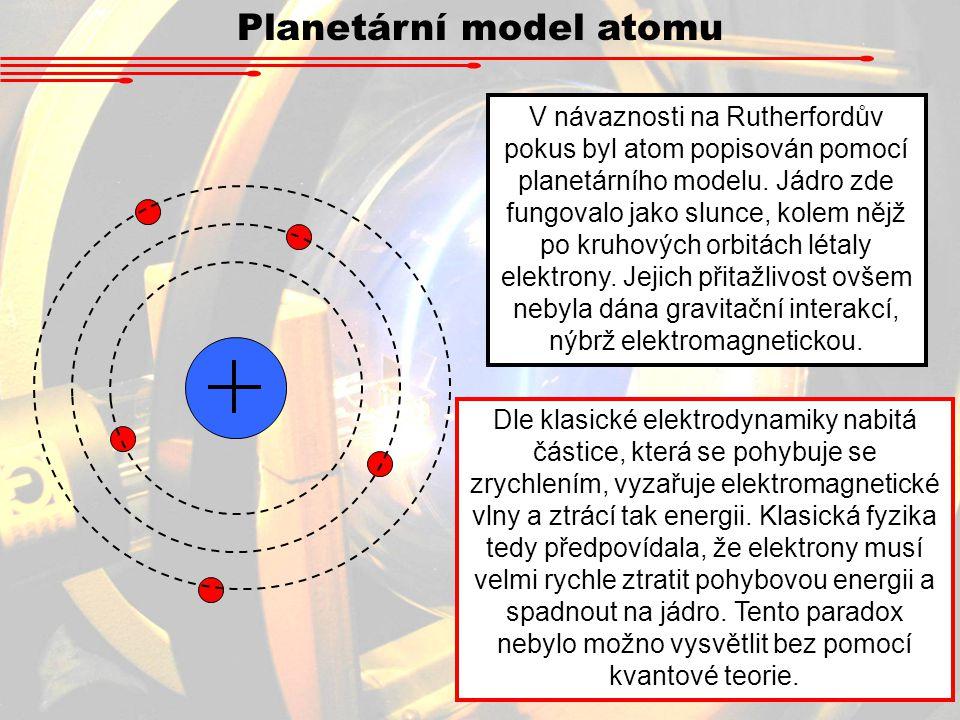 Planetární model atomu