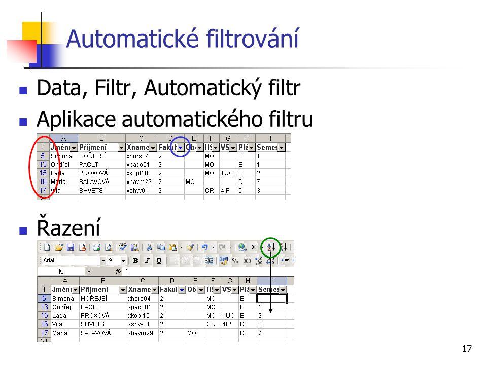 Automatické filtrování