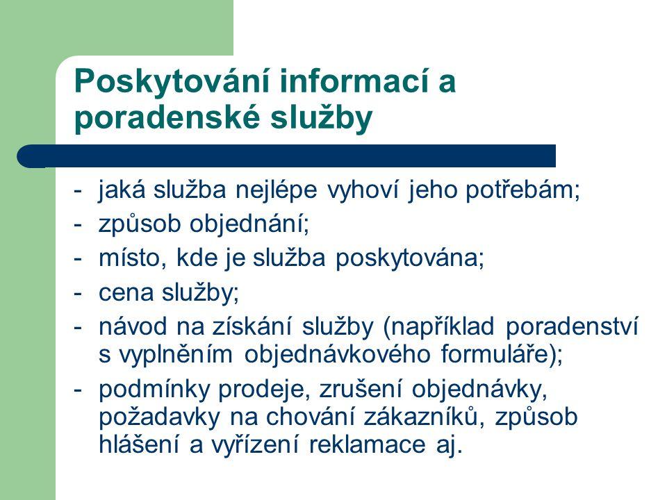 Poskytování informací a poradenské služby