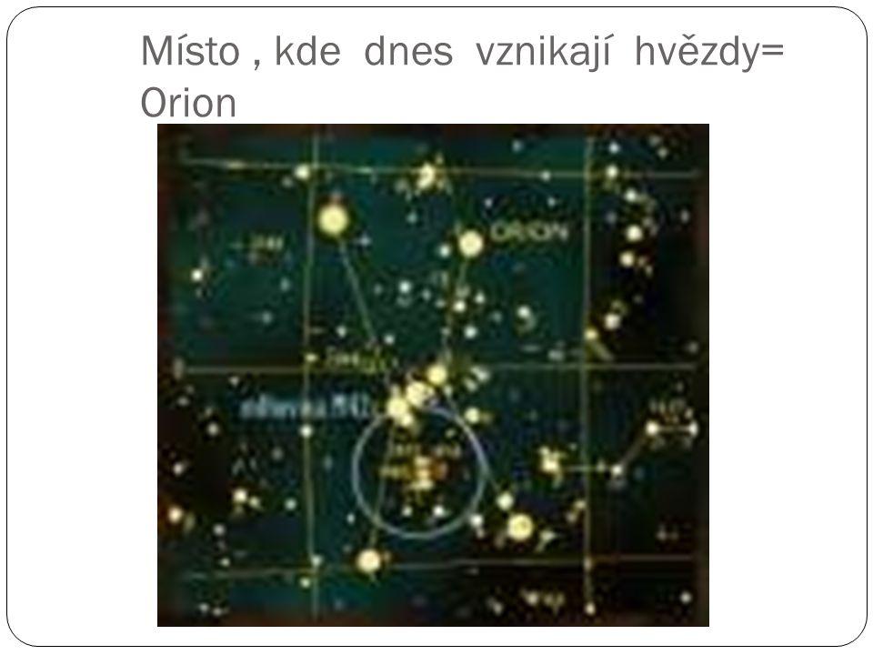 Místo , kde dnes vznikají hvězdy= Orion