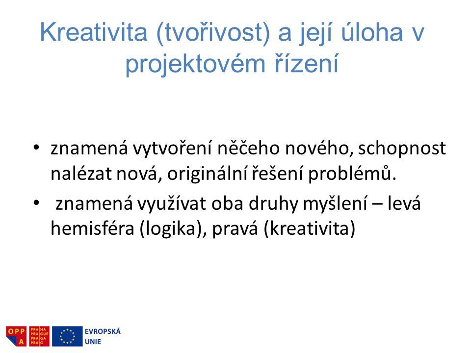 Kreativita (tvořivost) a její úloha v projektovém řízení