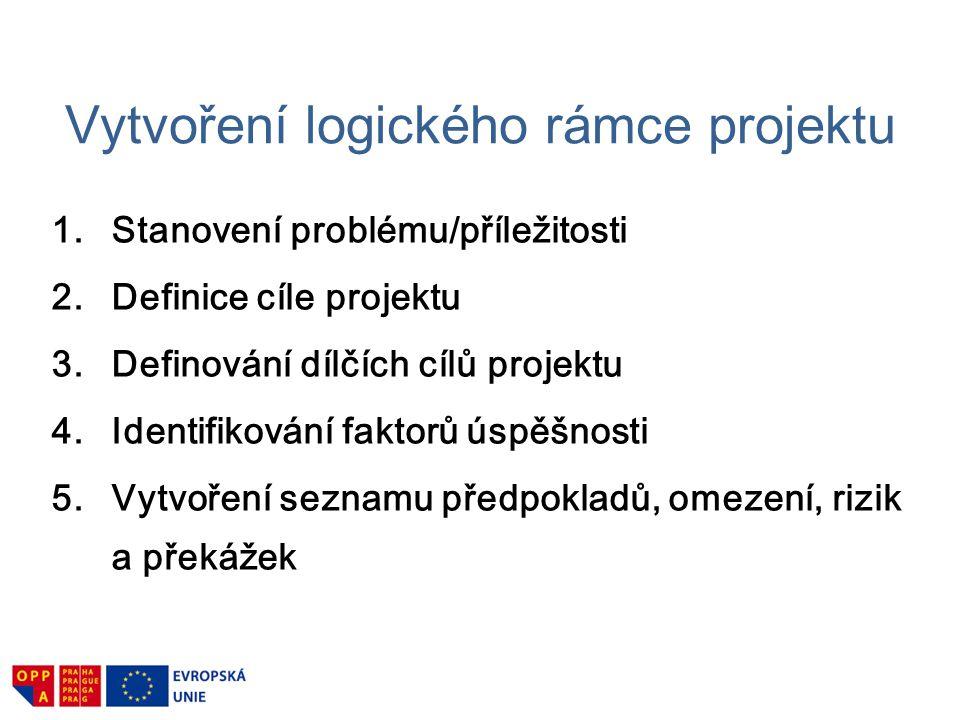 Vytvoření logického rámce projektu