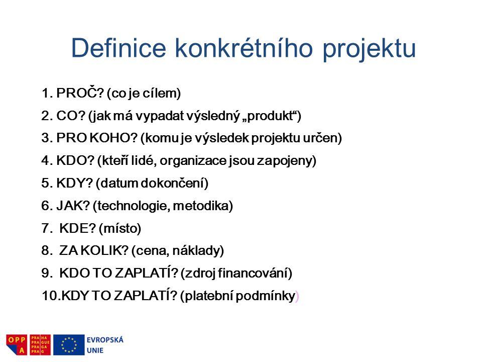 Definice konkrétního projektu