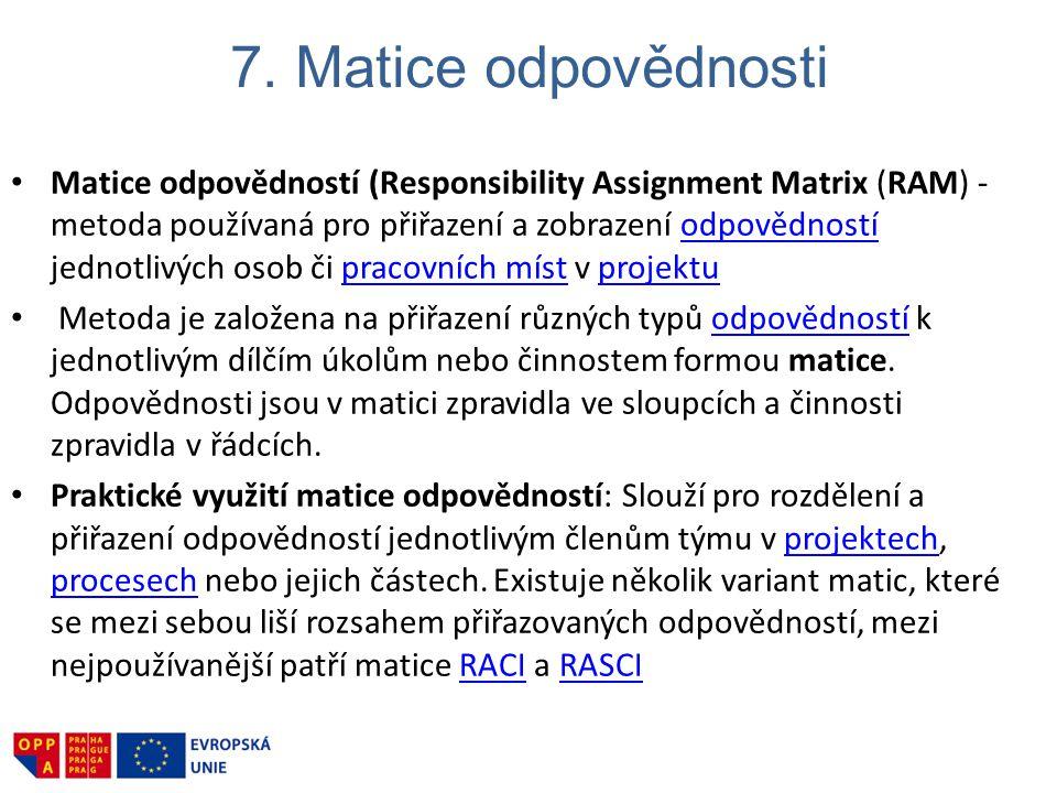 7. Matice odpovědnosti