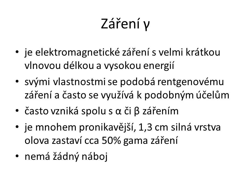 Záření γ je elektromagnetické záření s velmi krátkou vlnovou délkou a vysokou energií.