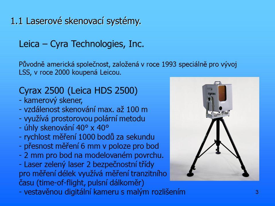 1.1 Laserové skenovací systémy.