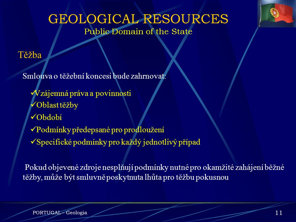 GEOLOGICAL RESOURCES Public Domain of the State