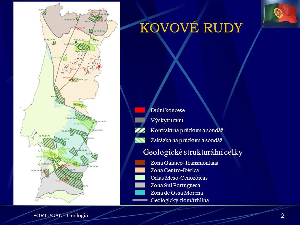 KOVOVÉ RUDY Geologické strukturální celky 2 Důlní koncese Výskyt uranu