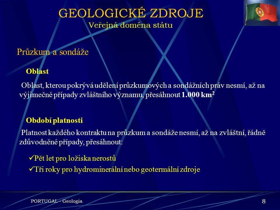 GEOLOGICKÉ ZDROJE Veřejná doména státu