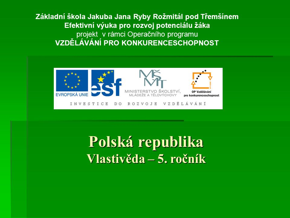 Polská republika Vlastivěda – 5. ročník