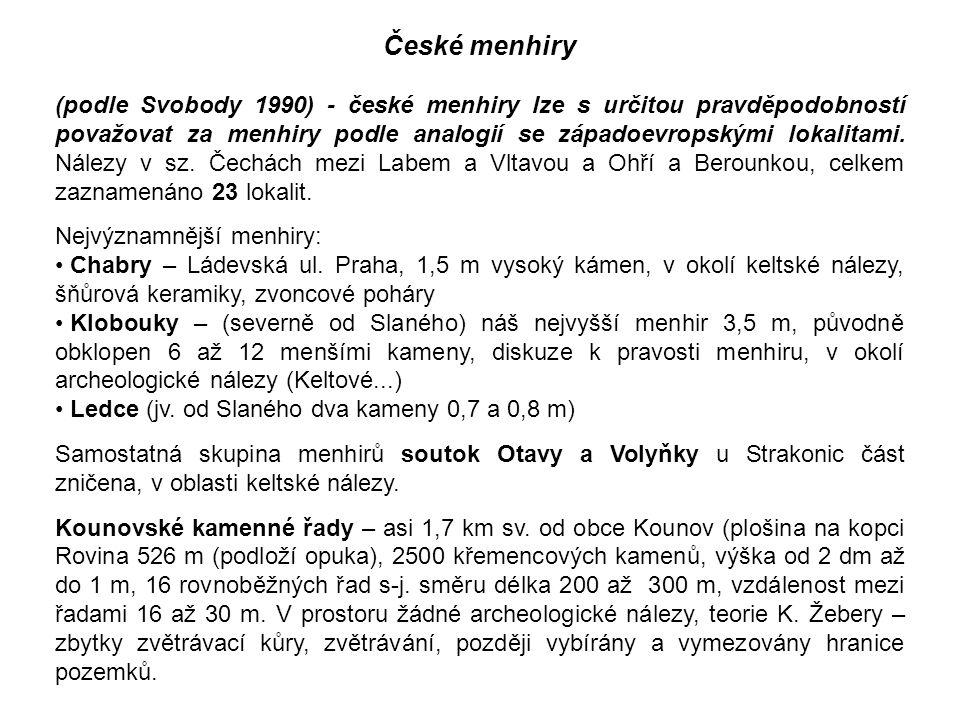 České menhiry