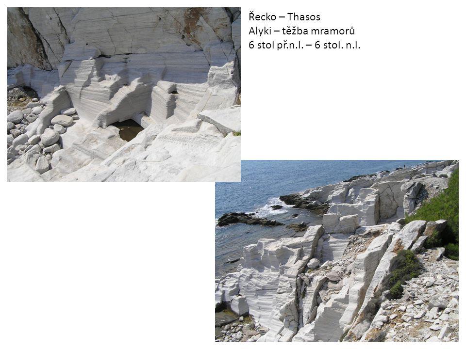 Řecko – Thasos Alyki – těžba mramorů 6 stol př.n.l. – 6 stol. n.l. 2
