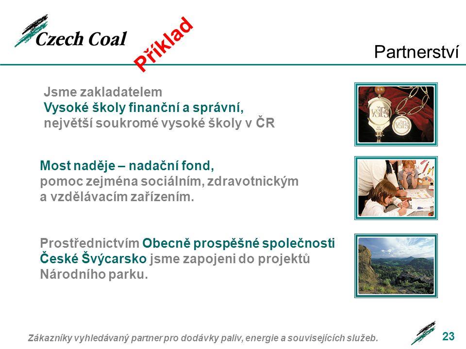 Příklad Partnerství. Jsme zakladatelem Vysoké školy finanční a správní, největší soukromé vysoké školy v ČR.