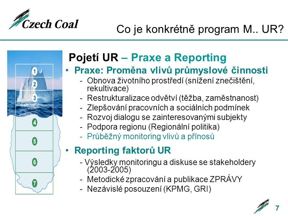 Co je konkrétně program M.. UR