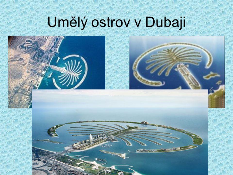 Umělý ostrov v Dubaji