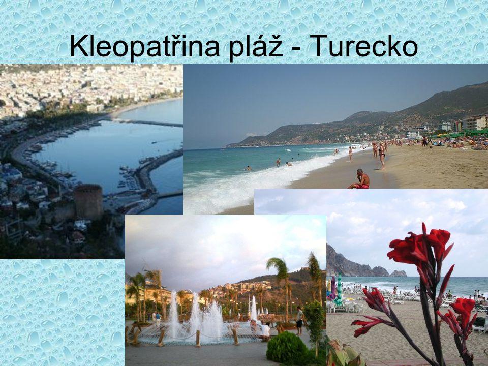 Kleopatřina pláž - Turecko