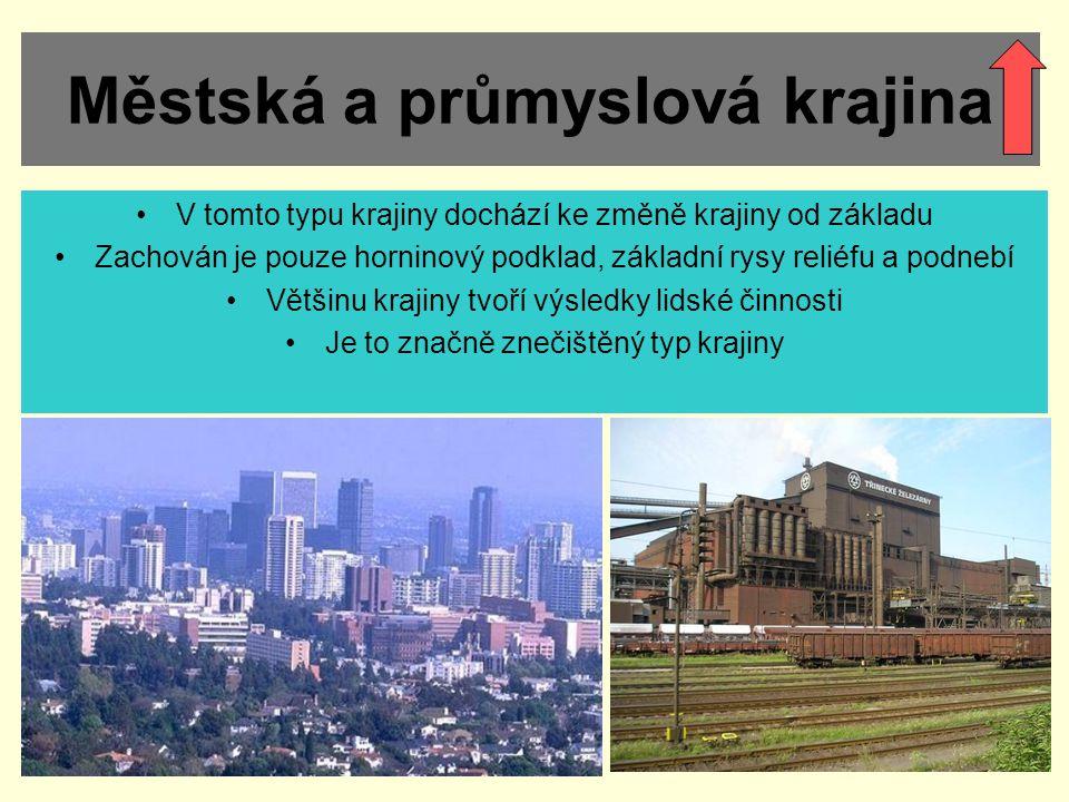 Městská a průmyslová krajina