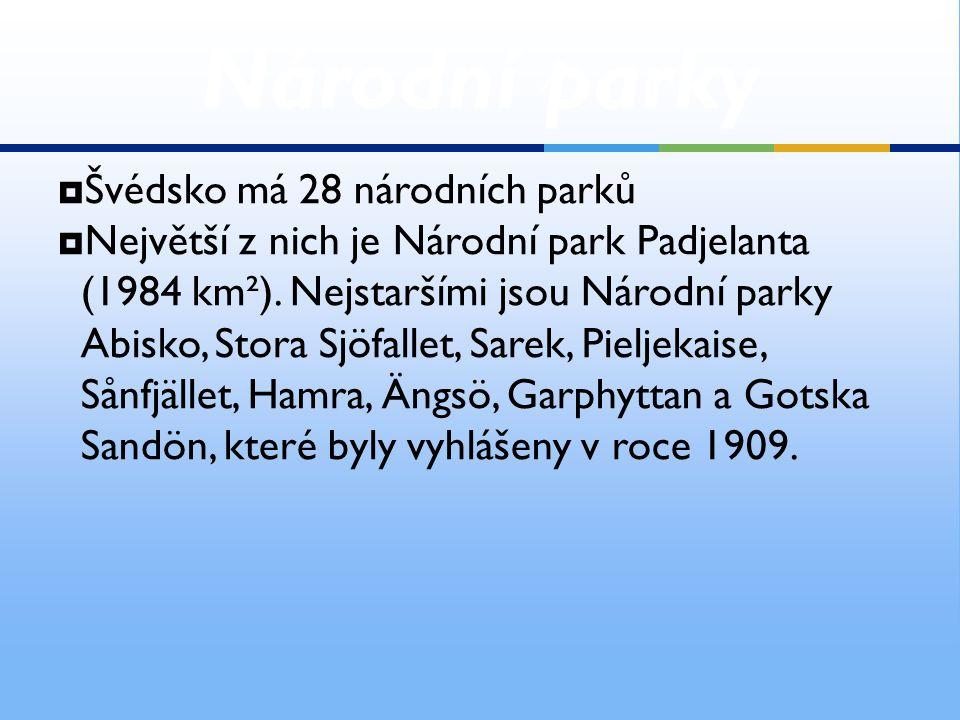 Národní parky Švédsko má 28 národních parků