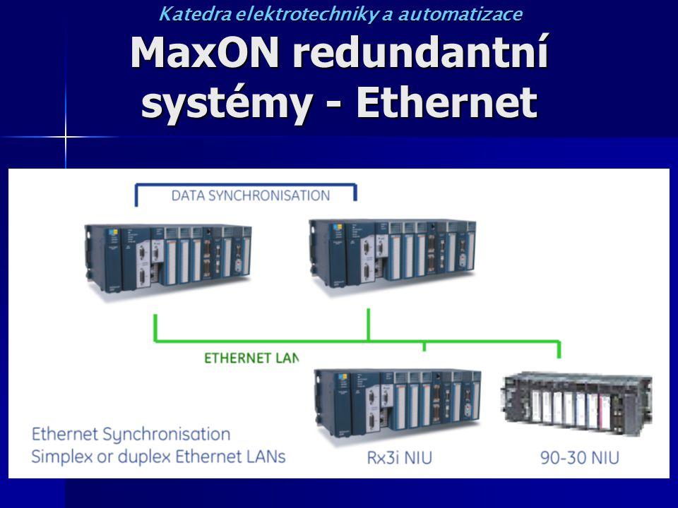 MaxON redundantní systémy - Ethernet