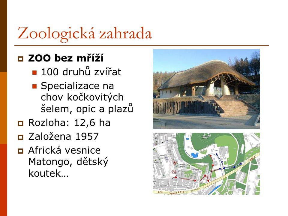 Zoologická zahrada ZOO bez mříží 100 druhů zvířat