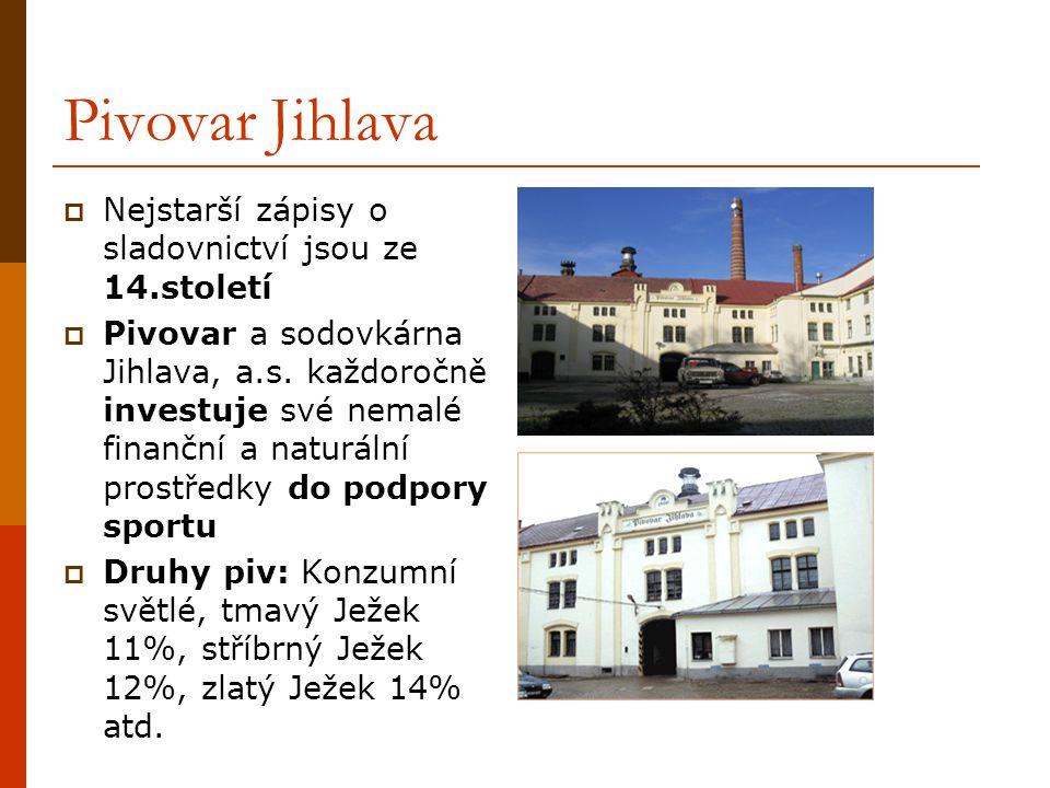 Pivovar Jihlava Nejstarší zápisy o sladovnictví jsou ze 14.století