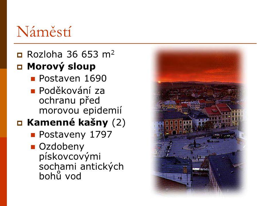 Náměstí Rozloha 36 653 m2 Morový sloup Postaven 1690