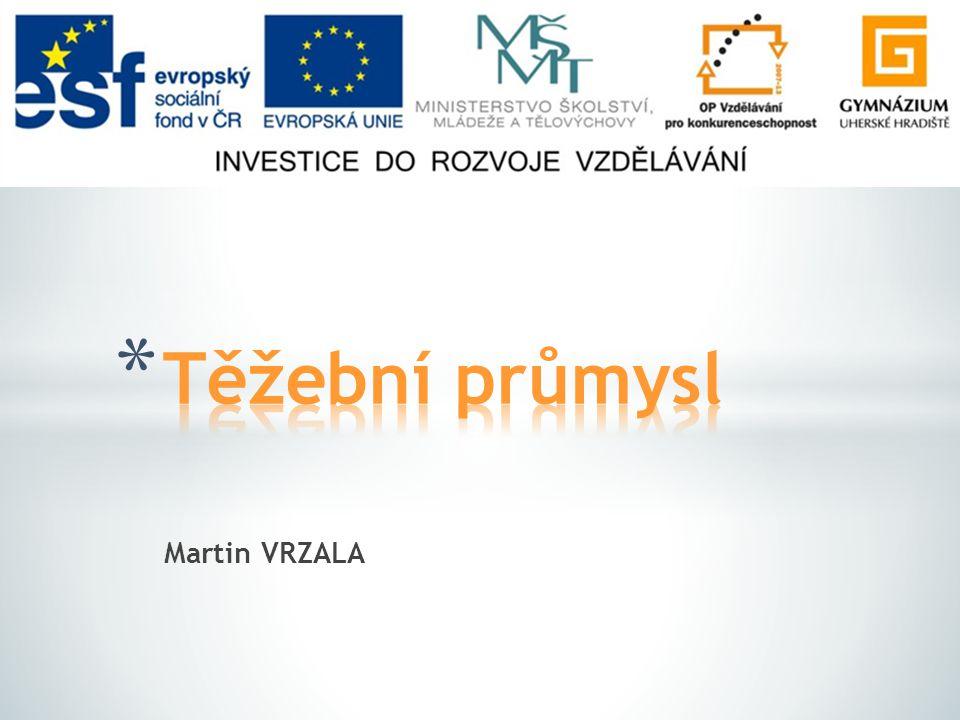 Těžební průmysl Martin VRZALA
