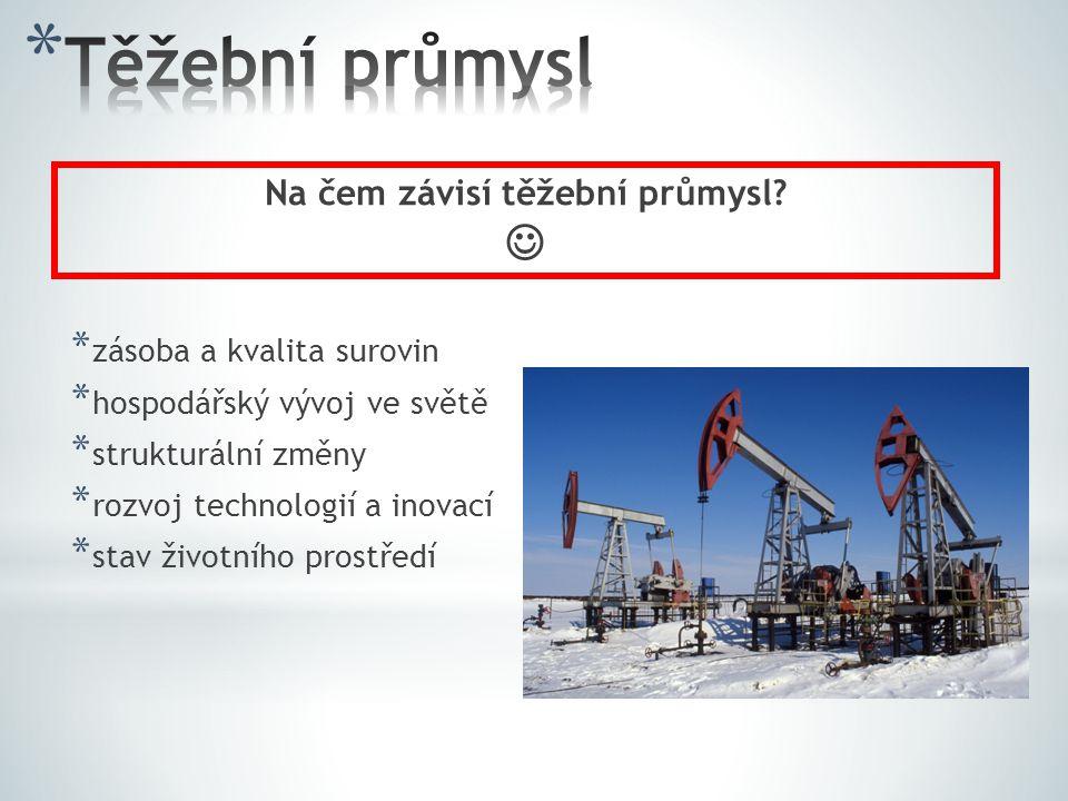 Na čem závisí těžební průmysl
