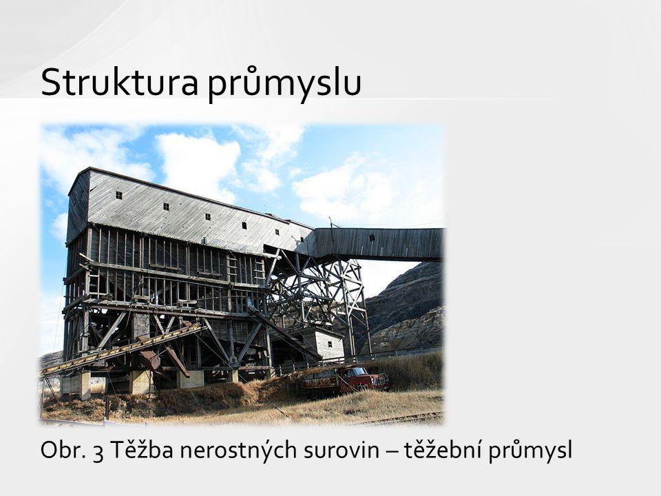 Struktura průmyslu Obr. 3 Těžba nerostných surovin – těžební průmysl