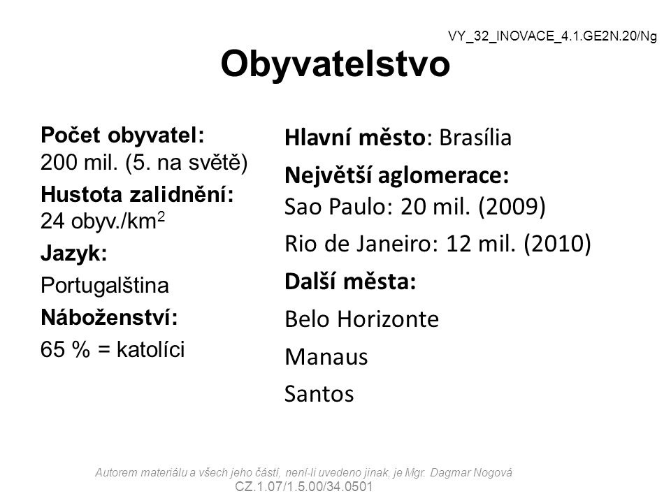 Obyvatelstvo VY_32_INOVACE_4.1.GE2N.20/Ng.